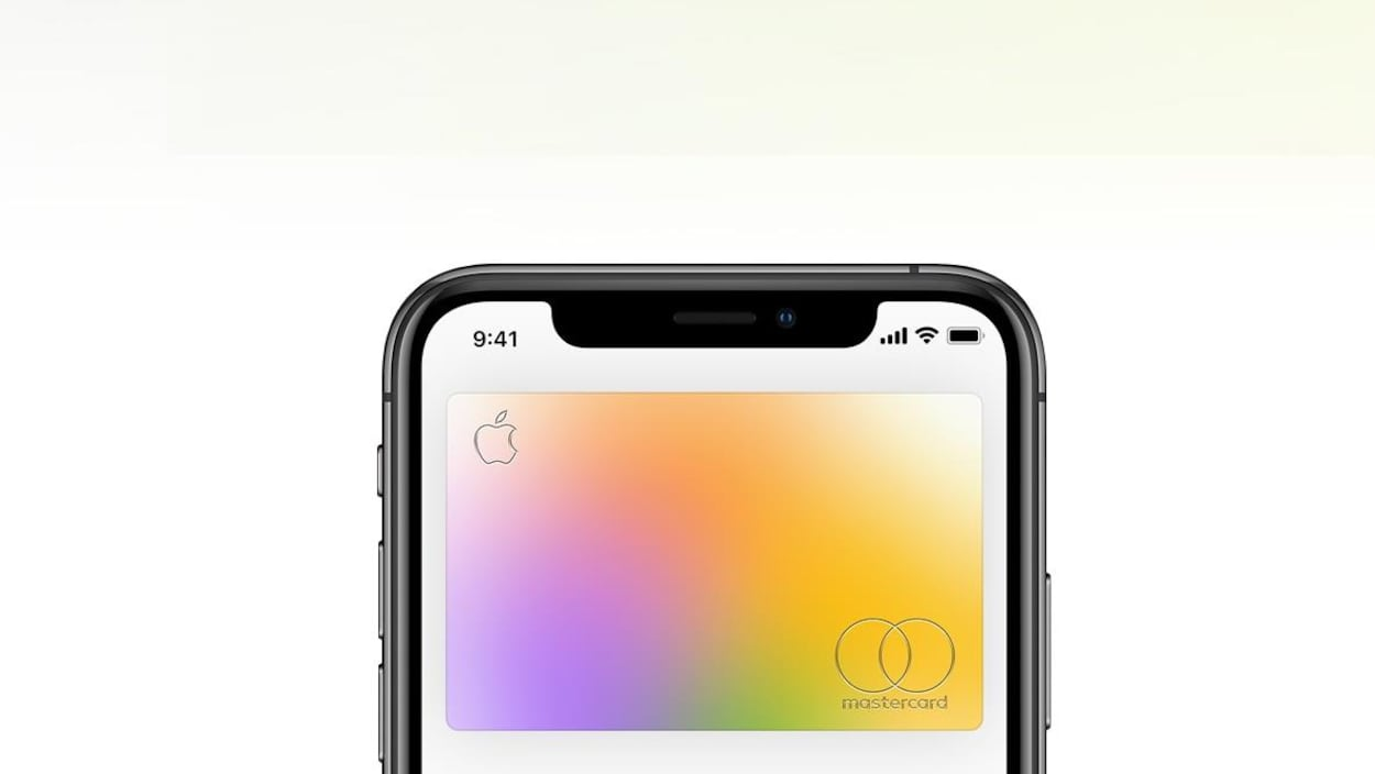 Une Carte Apple sur un écran d'iPhone.