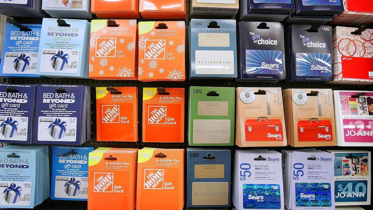 les cartes cadeaux comme de l 39 argent ou presque ici radio. Black Bedroom Furniture Sets. Home Design Ideas