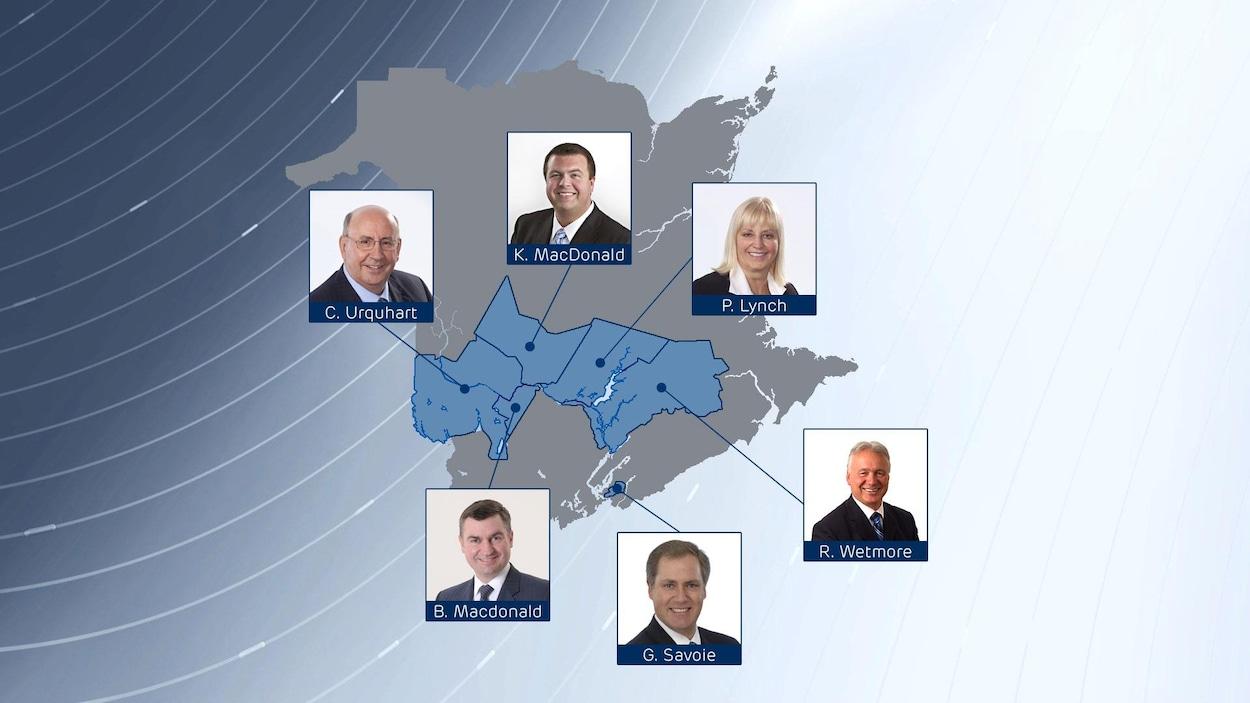 Six candidats ont été nominés chez les progressistes-conservateurs en prévision des élections provinciales en 2018