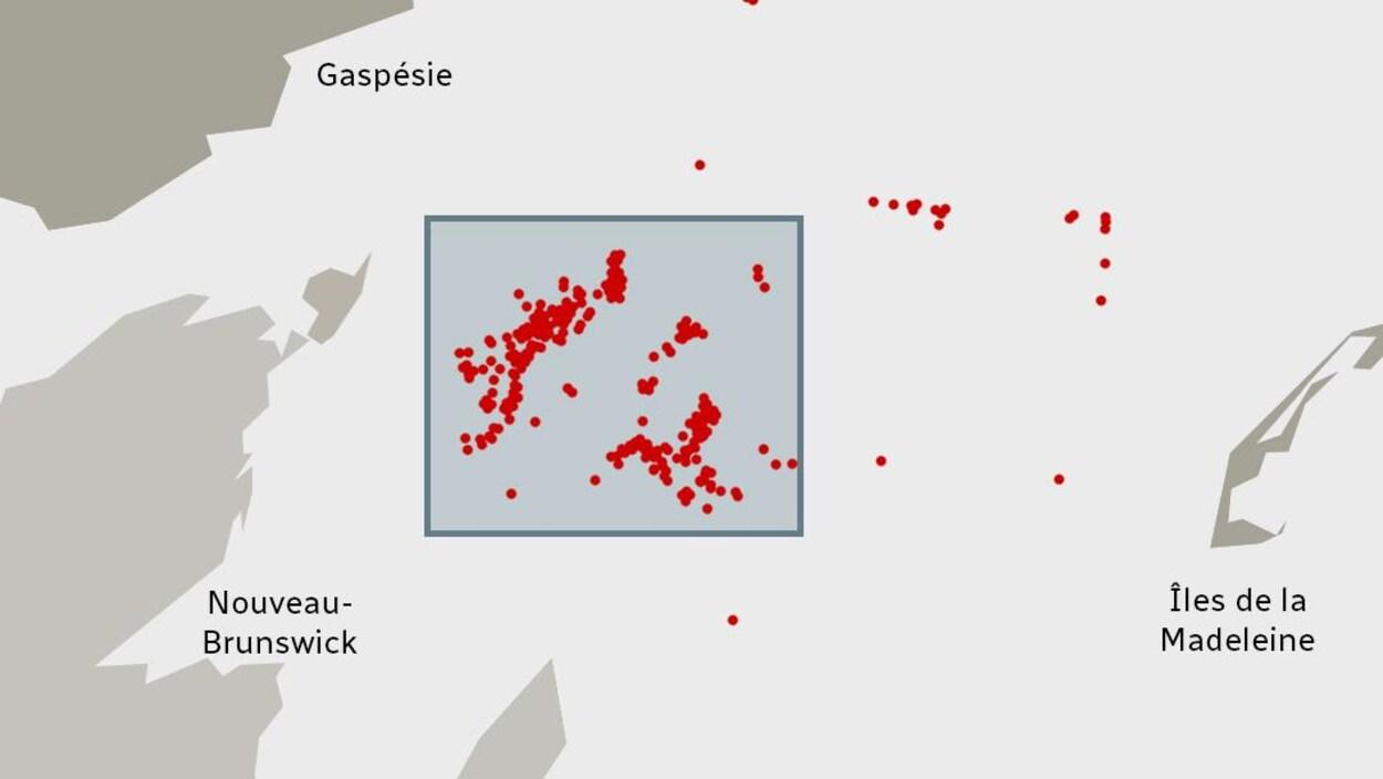Carte représentant la zone protégée.