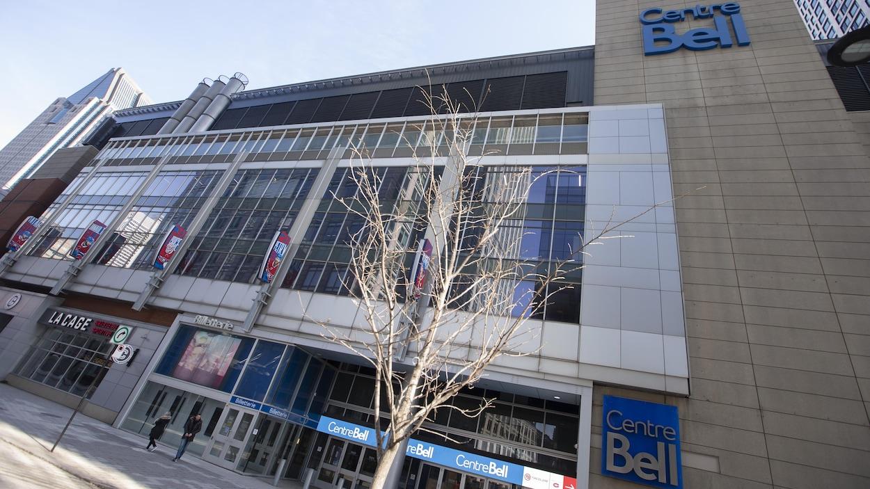 Vue de l'extérieur du Centre Bell de Montréal.
