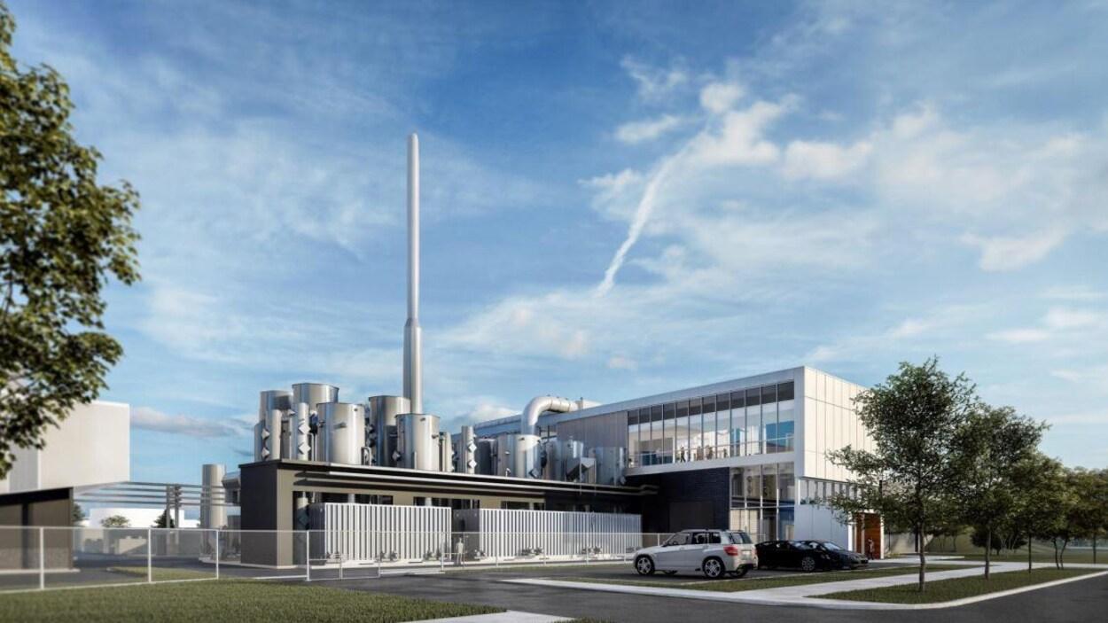 Esquisse du projet de centre de biométhanisation
