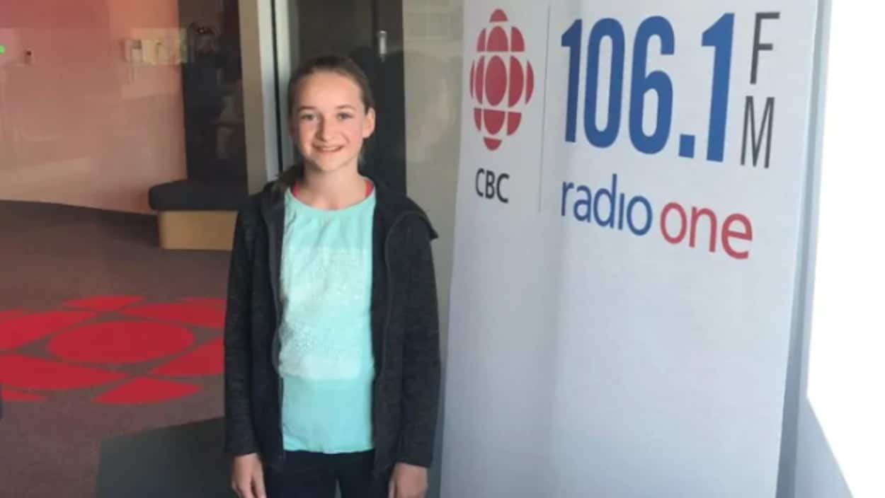 Quinn MacAskill dans les bureaux de Radio-Canada.