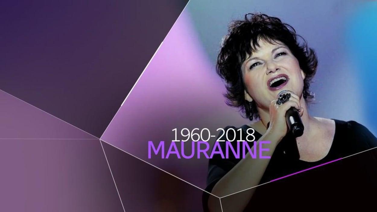 Montage d'une image montrant la chanteuse Maurane