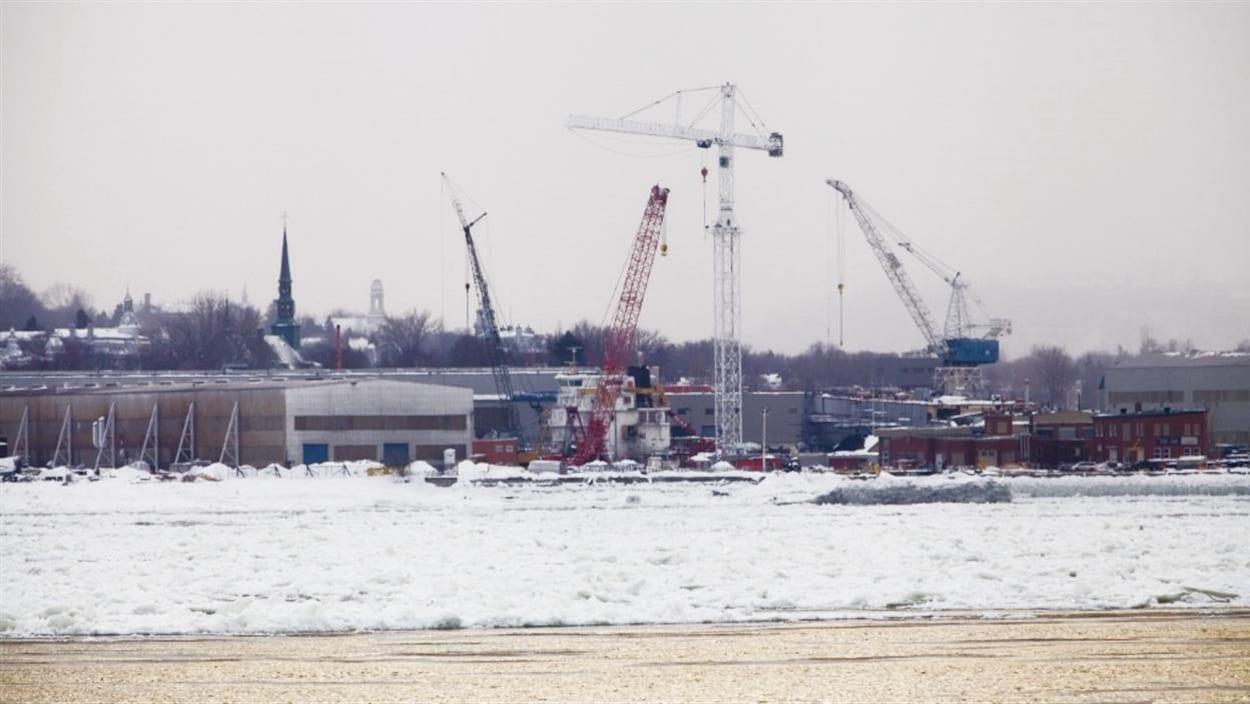 Le chantier Davie en hiver