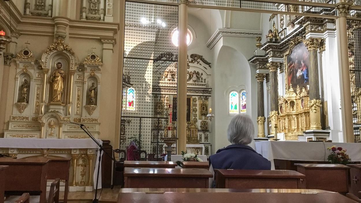 L'intérieur de la chapelle des Ursulines de Québec.