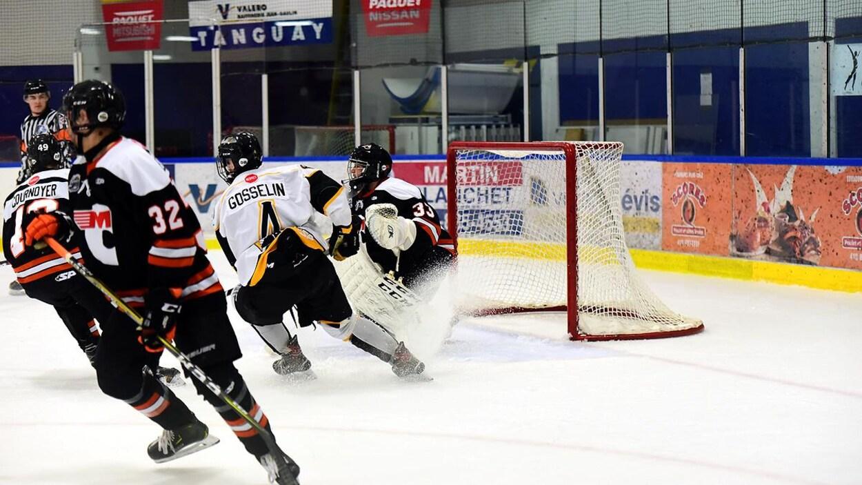 Les hockeyeurs en action