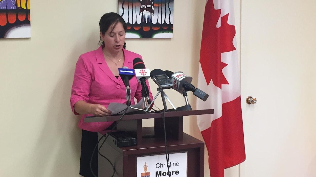Christine Moore, députée néo-démocrate d'Abitibi-Témiscamingue.