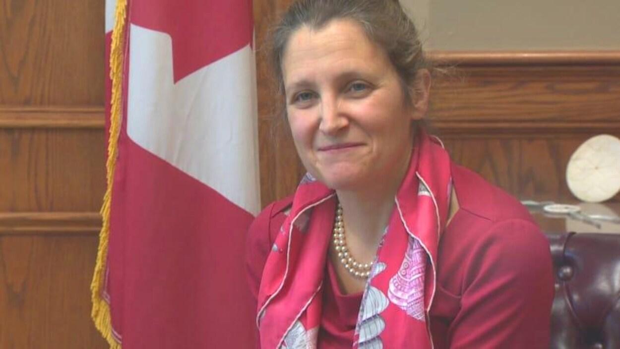 La ministre fédérale des Affaires intergouvernementales, Chrystia Freeland.