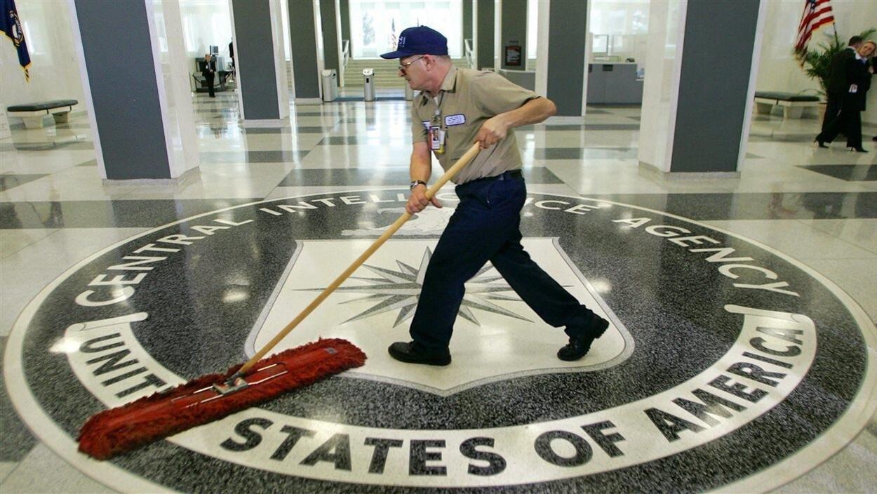 Le hall de l'édifice de la CIA, à Washington.