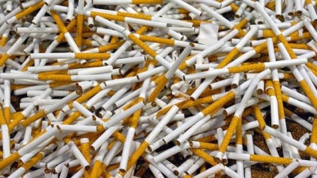 Des cigarettes de contrebande.
