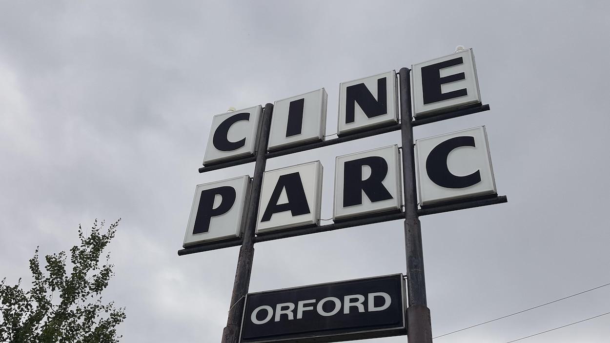 Affiche du Ciné-parc d'Orford.