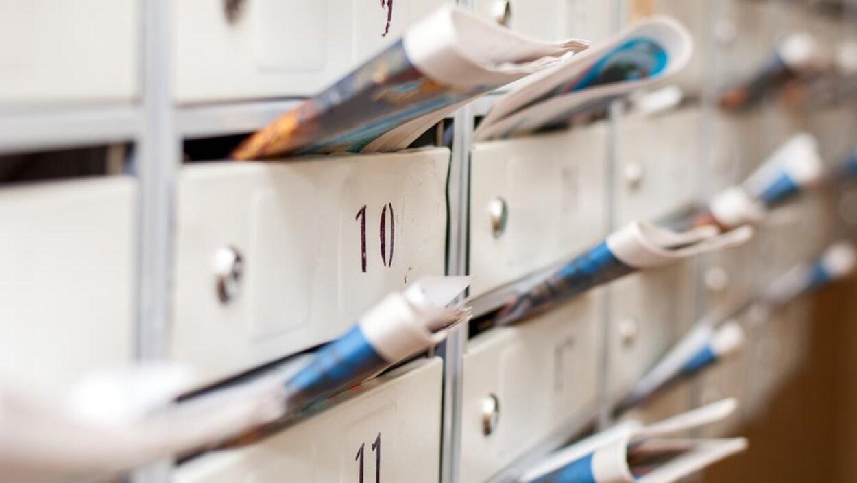 Des circulaires dans des boîtes postales