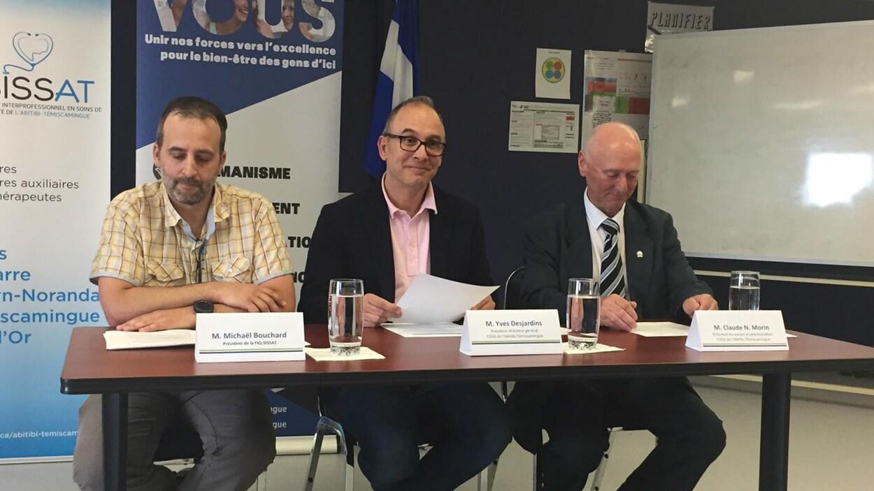 Le CISSS-AT a tenu un point de presse le 15 juin.