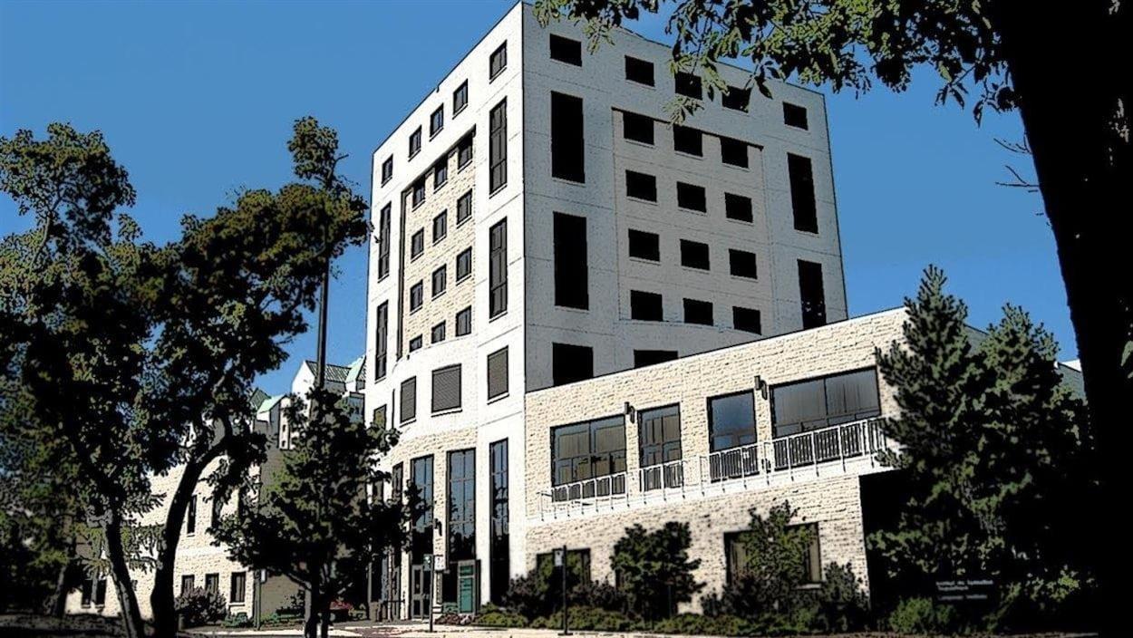 Bâtiment de la Cité universitaire francophone à l'Université de Regina, en Saskatchewan.