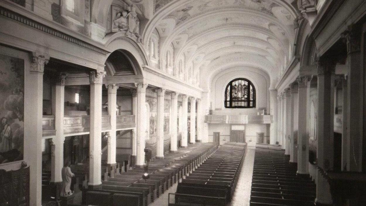 Vue intérieure de la cocathédrale historique.