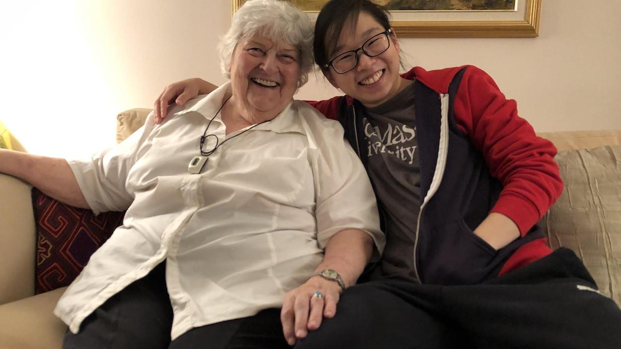Marilyn Corbeil-Waters et Jenny Feng sont colocataires à Hamilton.