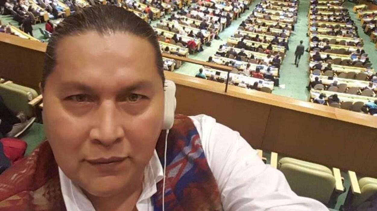 Alvin Baptiste à l'Assemblée générale des Nations unies