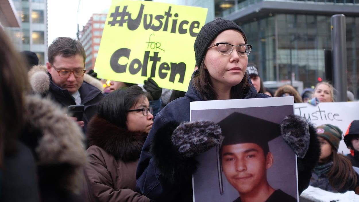 Une veille à la mémoire de Colten Boushie avait lieu à Montréal, mardi 13 février.