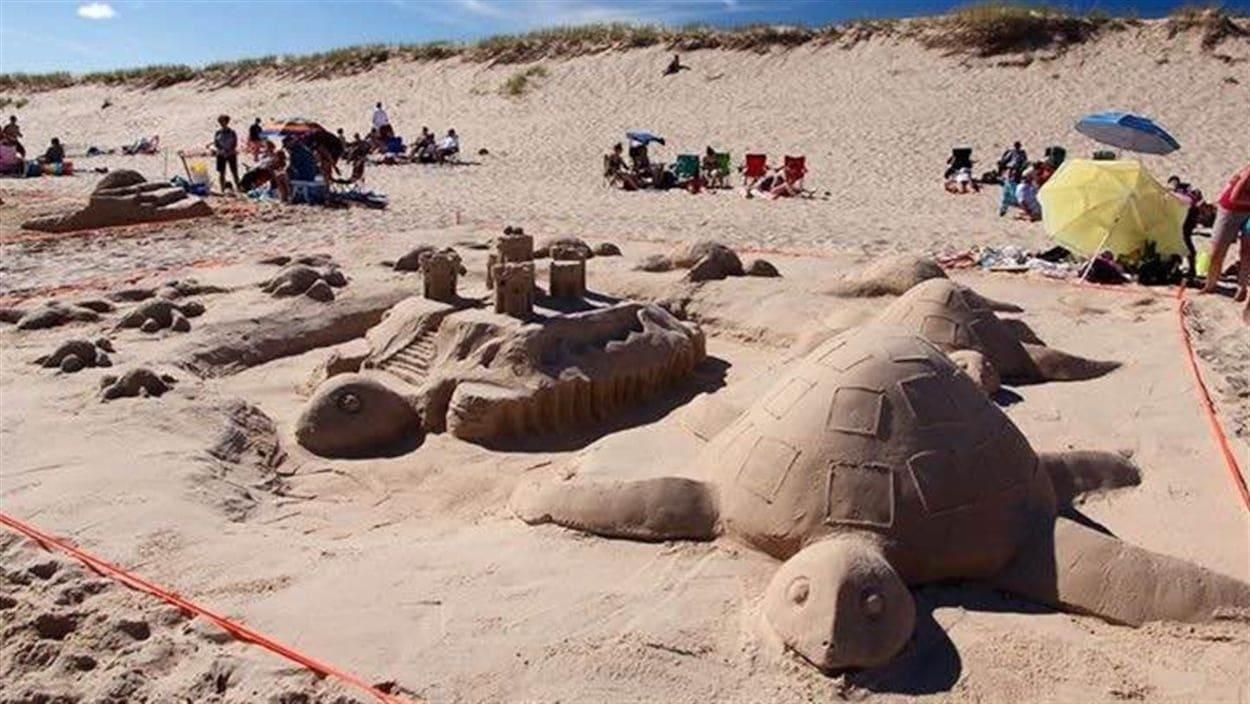 Tortues fabriquées en sable