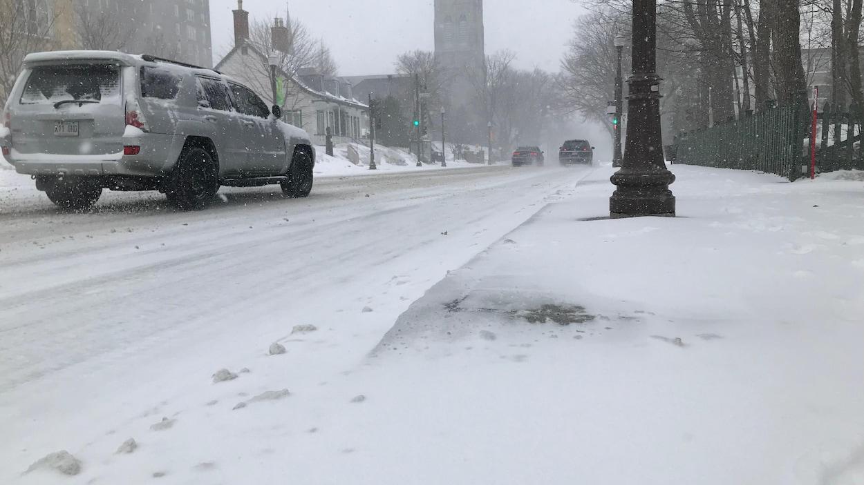 Les conditions routières sont difficiles à Québec...un 8 avril.