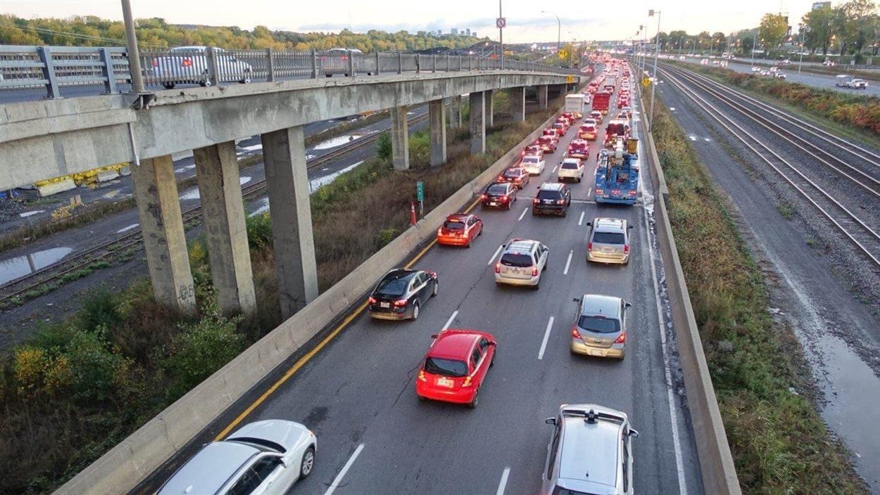 Congestion sur l'autoroute 20 Est.