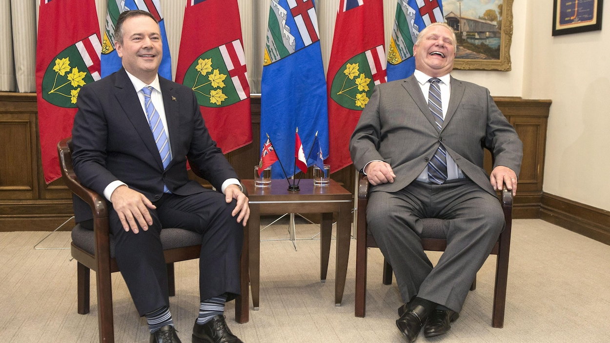 Jason Kenney et Doug Ford