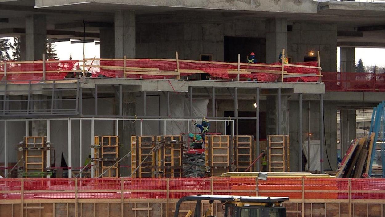 Un chantier de construction à Saskatoon.