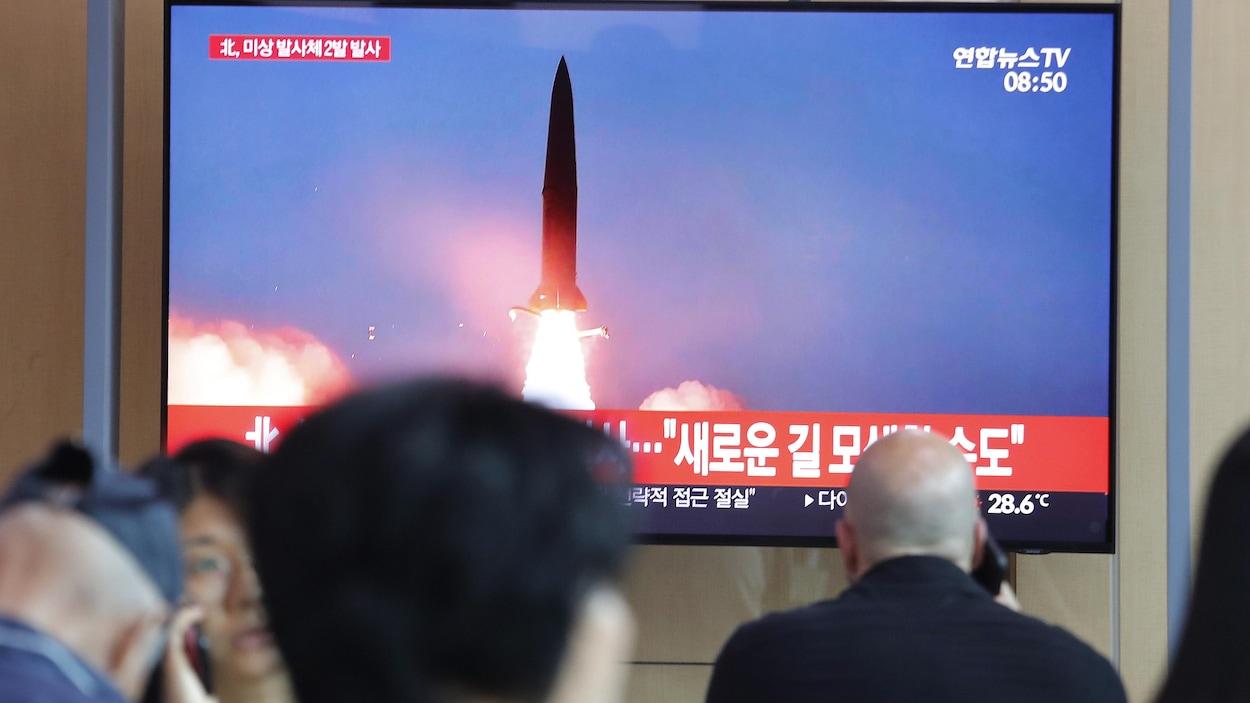 Lancement d'un missile nord-coréen.