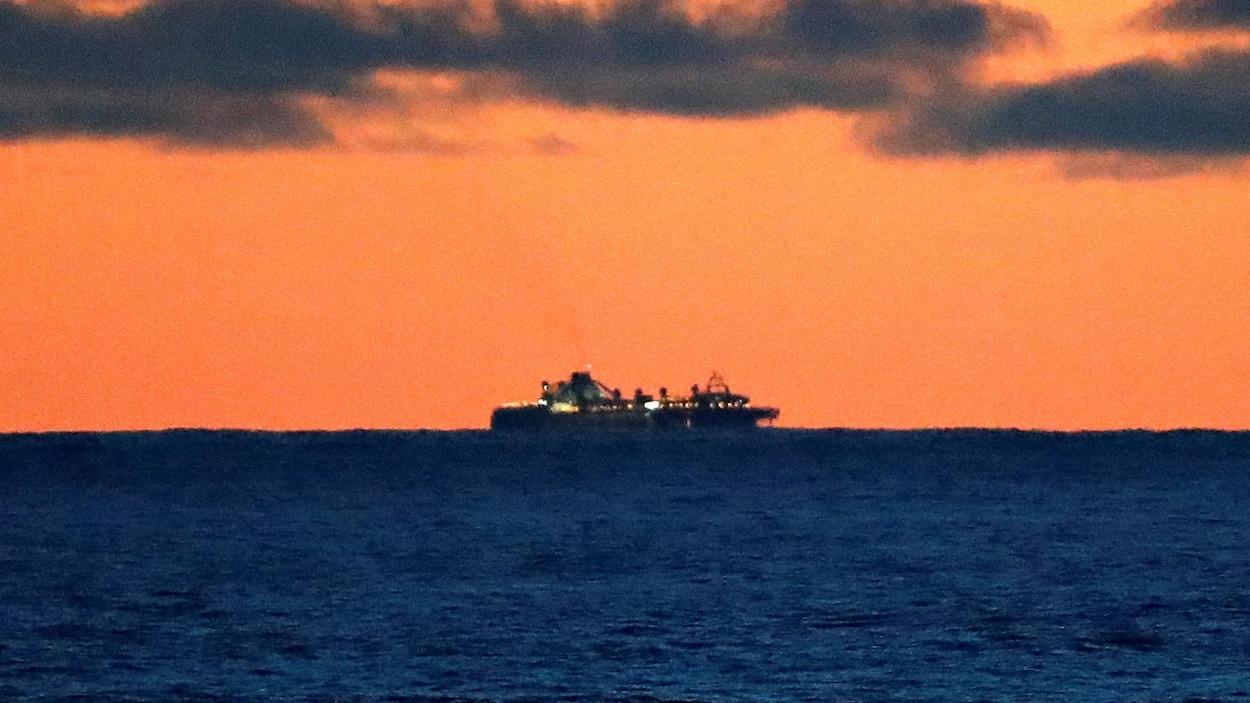 Le paquebot Grand Princess au large des côtes américaines
