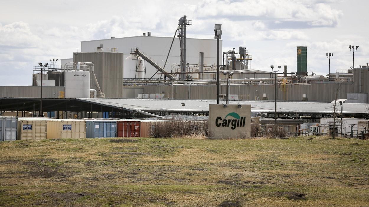 Une usine de bœuf en Alberta.
