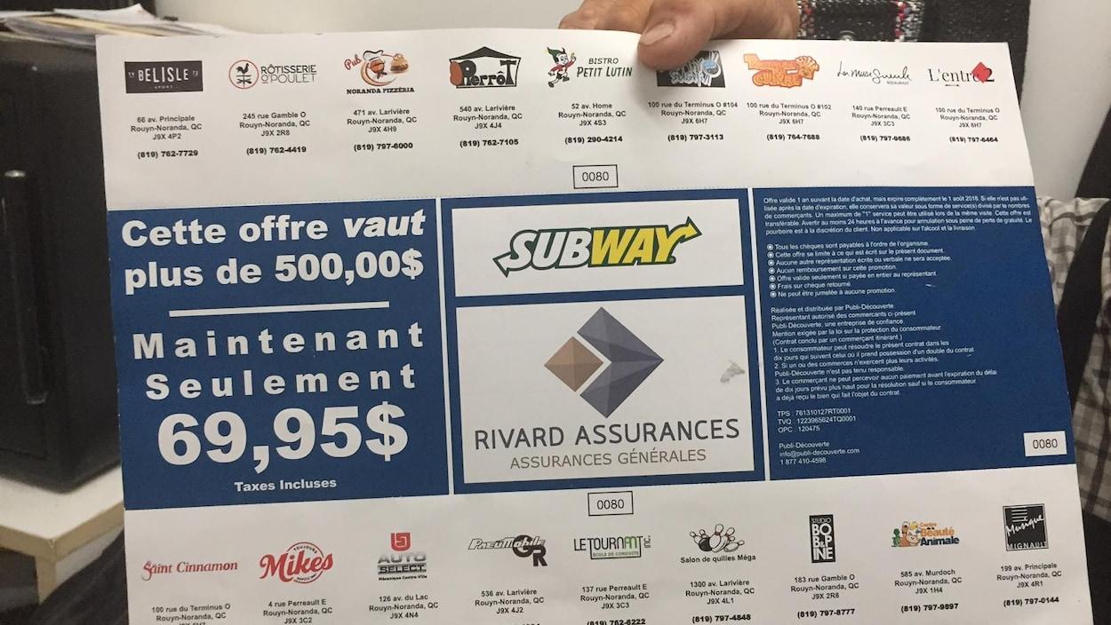 reportage coupons rabais