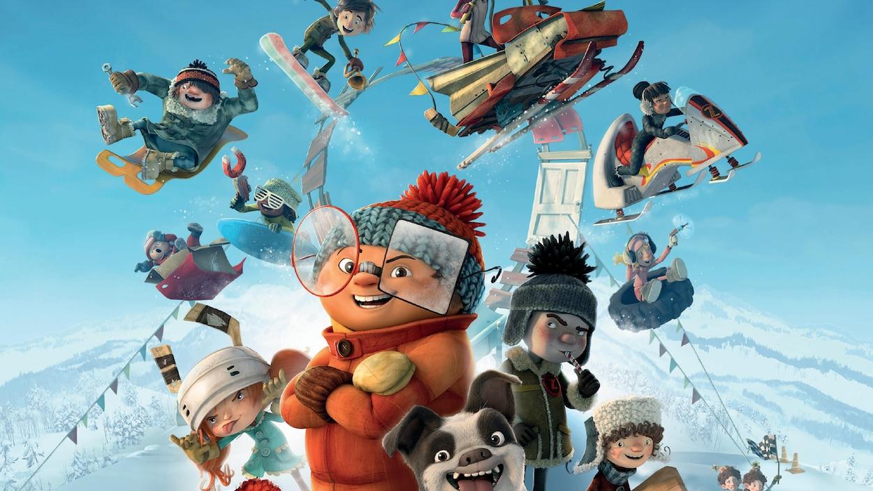 Affiche du film d'animation « La course des tuques » qui sortira en salle le 7 décembre 2018.