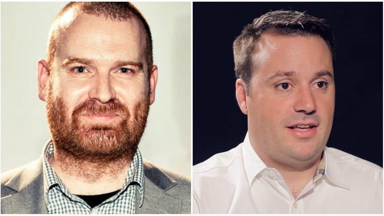 Le président du groupe Vice Media, Andrew Creighton, et le chef des opérations numériques, Mike Germano.