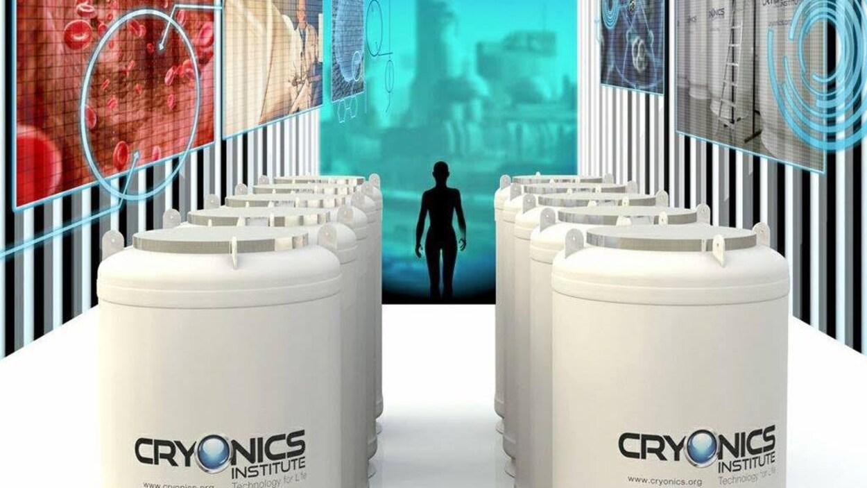 Des bassins de congélation du Cryonics Institute, aux États-Unis