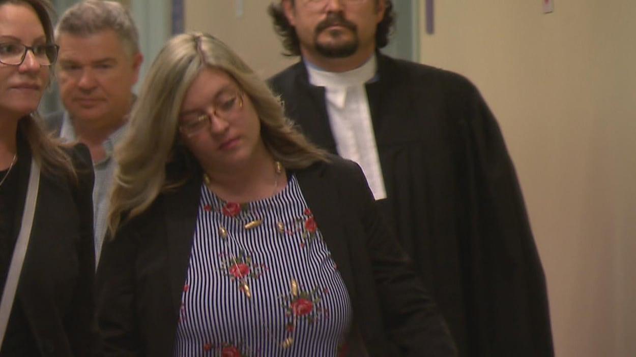 Cynthia Gaulin au palais de justice de Québec