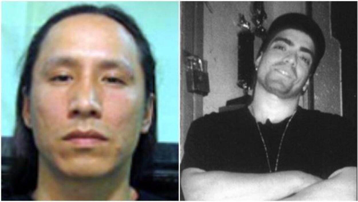 Les photos des deux victimes.