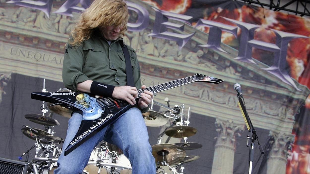 Le guitariste et chanteur de Megadeth lors d'un concert