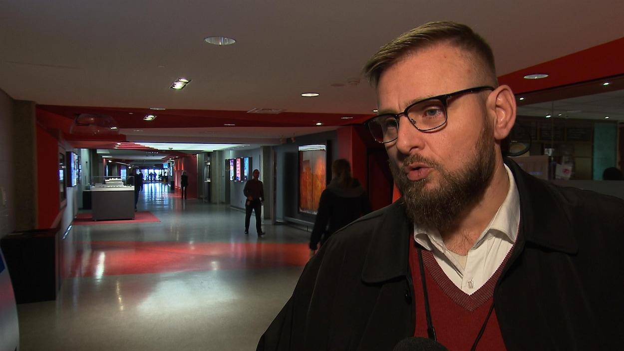 David Chartrand, coordonnateur québécois pour le Syndicat des machinistes