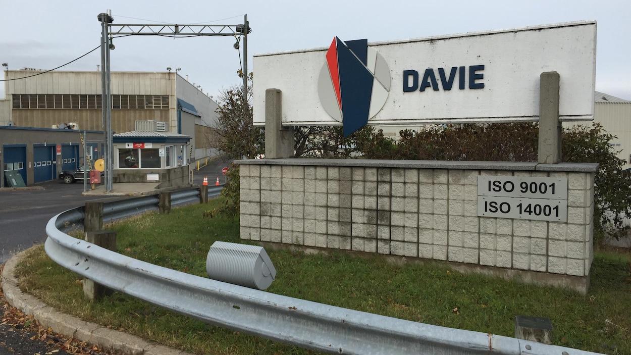 L'entrée du chantier Davie