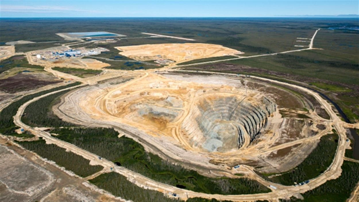 La mine de diamants Victor située près de la Baie James dans le Nord de l'Ontario.