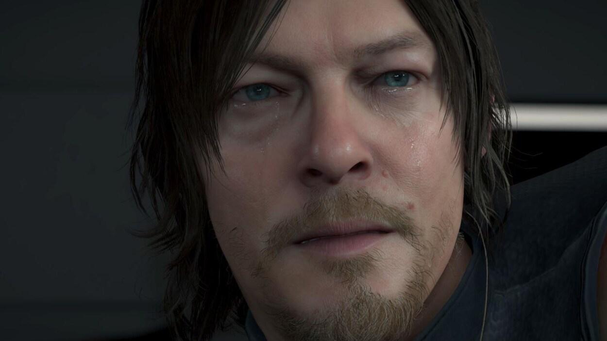 Un personnage de jeu vidéo pleure.