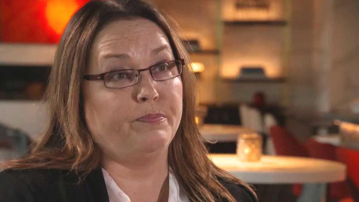 DeeAnn Fitzpatrick en entrevue avec BBC Scotland.