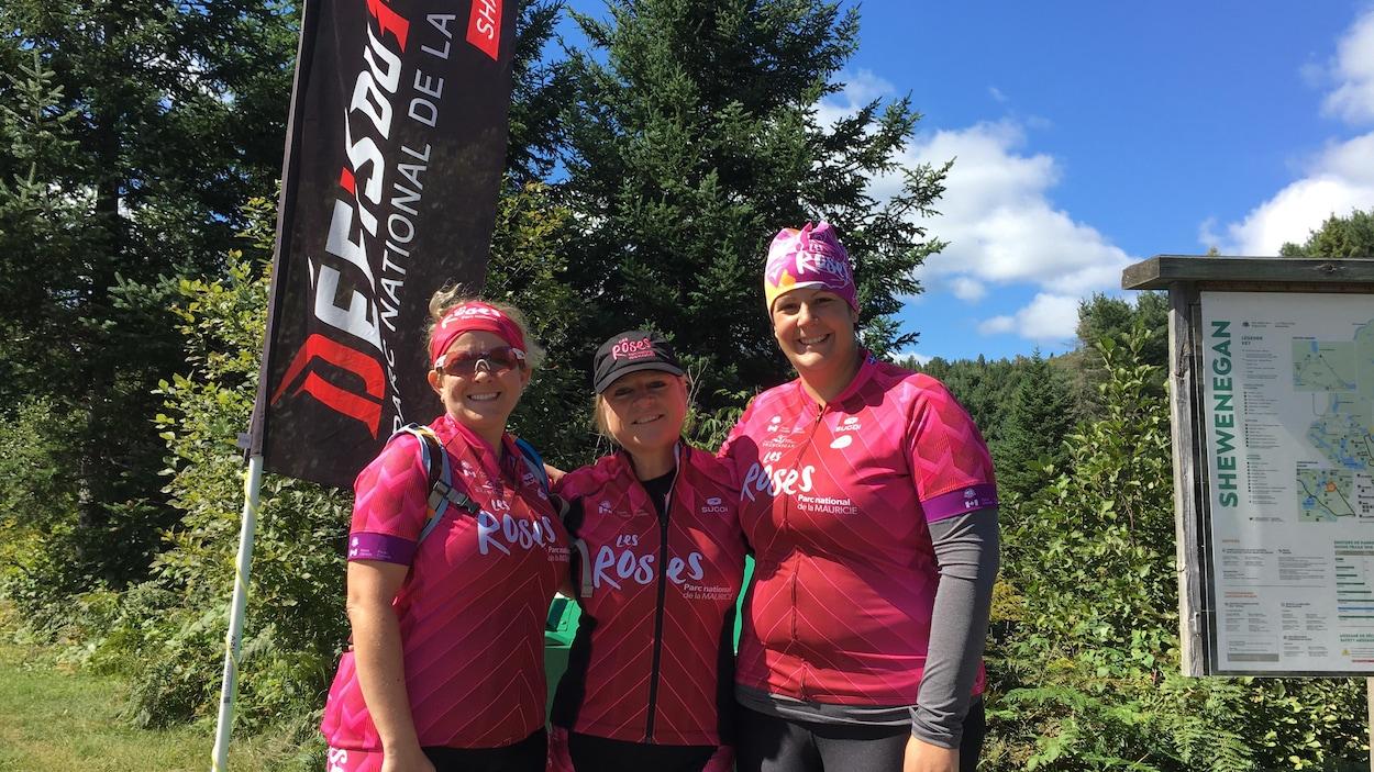 Les Roses ont complété leur premier triathlon dimanche.