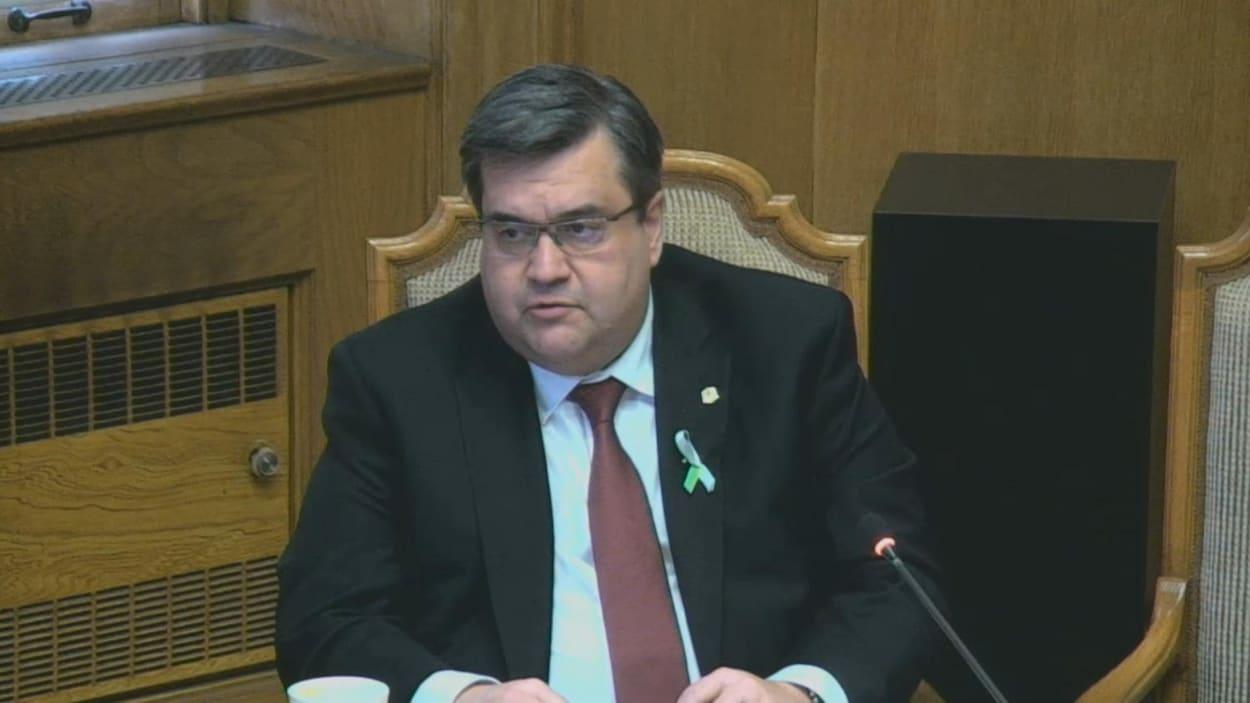 Le maire Denis Coderre lors de la réunion hebdomadaire du comité exécutif, le 15 février 2017