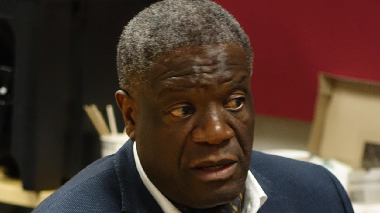 Gros plan du visage d'un homme, le Congolais Denis Mukwege.