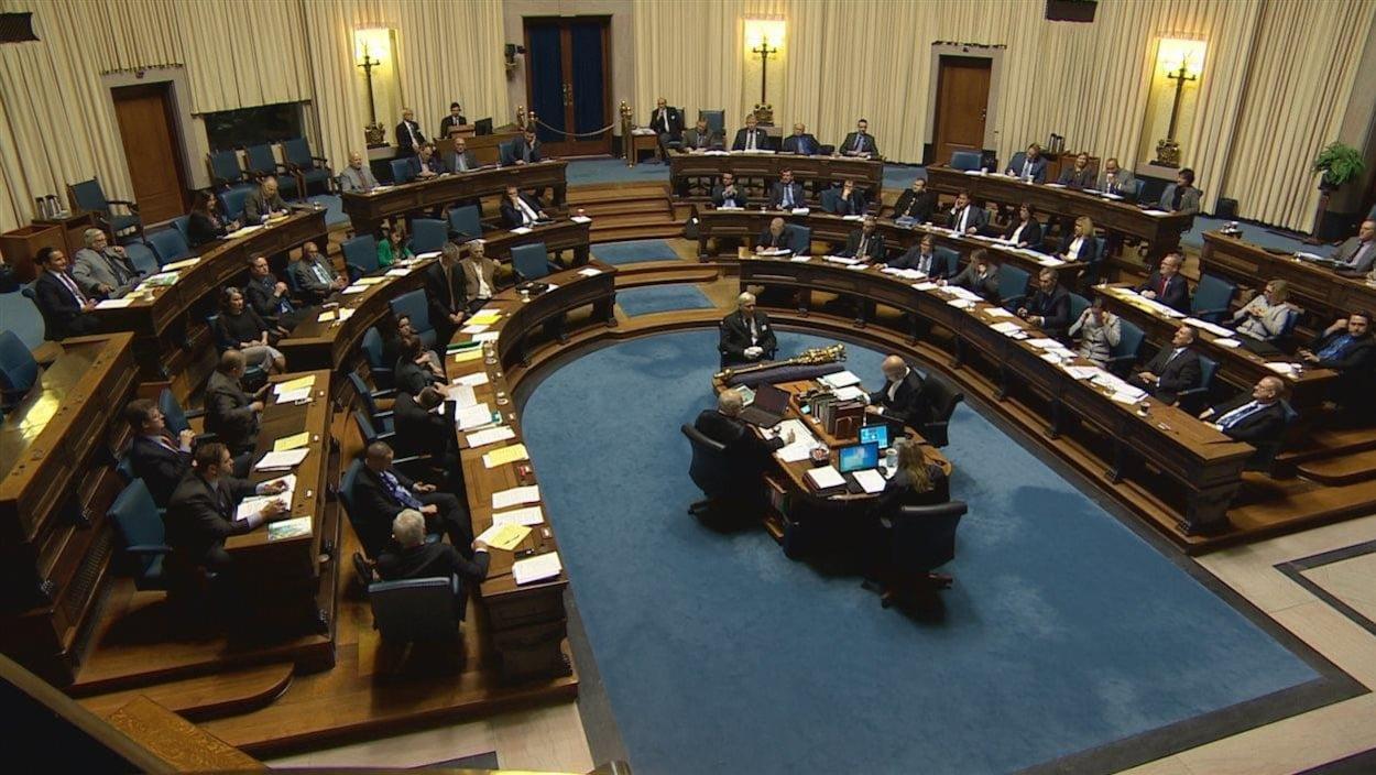 Les députés à l'Assemblée législative du Manitoba.
