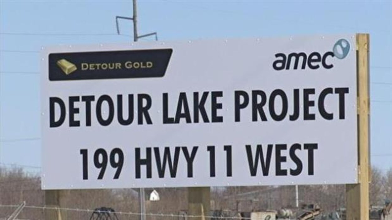 Pancarte de la mine Detour Lake