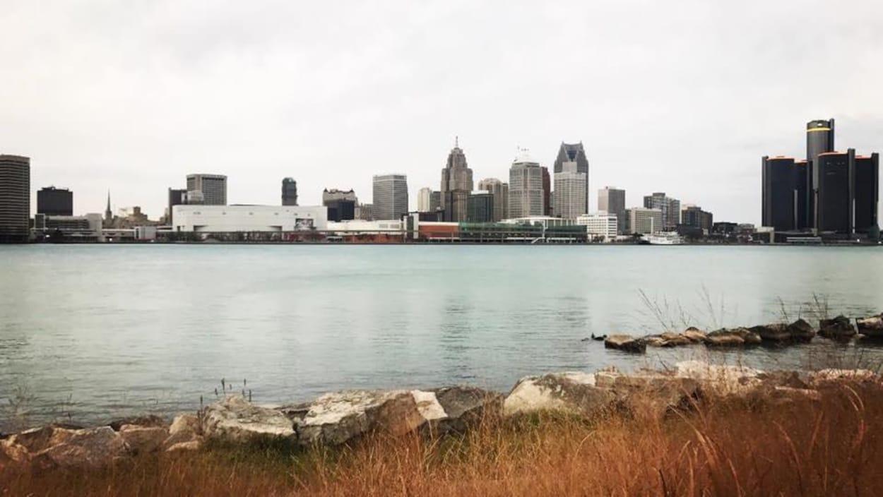 Détroit vue de Windsor.