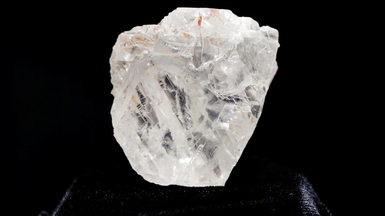 Le diamant Lesedi La Rona, exposé à New York en mai 2016.
